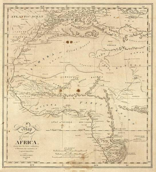 Unknown Photograph - Map Of North-western Africa by Library Of Congress, Geography And Map Division