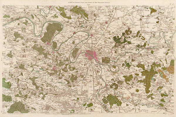Wall Art - Photograph - Map Of Paris by Library Of Congress, Geography And Map Division/ Science Photo Library