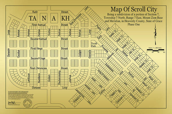 Q Digital Art - Map Of Scroll City by James Eddy