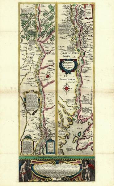 Dnieper Photograph - Map Of The Dnieper River by Library Of Congress, Geography And Map Division
