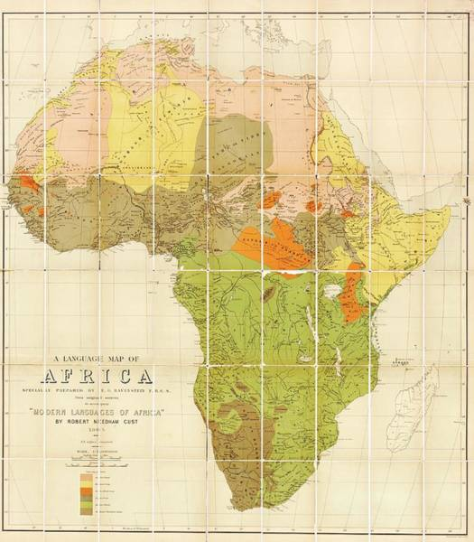 Geography Photograph - Map Of The Languages Of Africa by Library Of Congress, Geography And Map Division