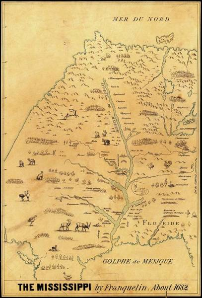 Marquette Photograph - Map Of The Mississippi River by Library Of Congress, Geography And Map Division