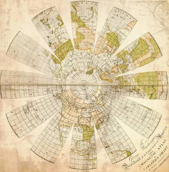Hemisphere Wall Art - Photograph - Map Of The Northern Hemisphere by American Philosophical Society