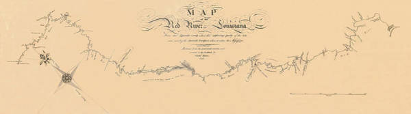 Wall Art - Photograph - Map Of The Red River 1806 by Andrew Fare