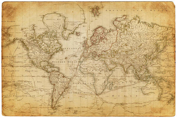 Patina Digital Art - Map Of The World 1800 by Thepalmer