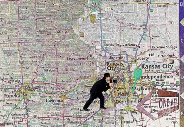 Liane Photograph - Map Overland Park Kansas by Liane Wright