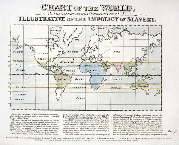 Painting - Map Sugar Trade by Granger