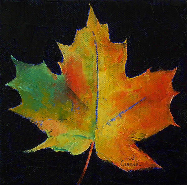 Wall Art - Painting - Maple Leaf by Michael Creese