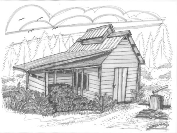 Drawing - Maple Sugar House by Richard Wambach