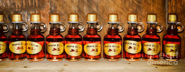 Photograph - Maple Syrup Bottles - Painterly by Les Palenik