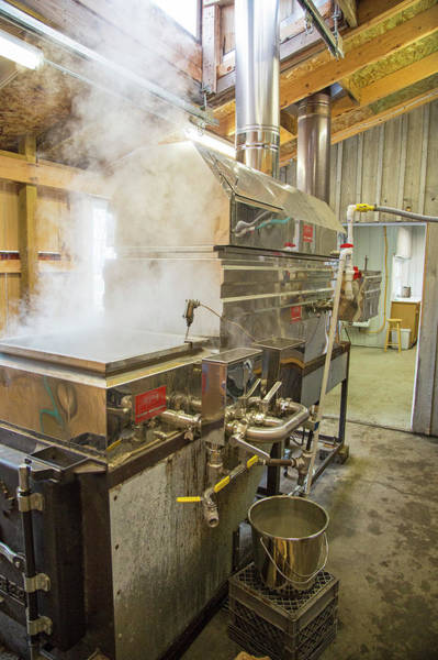 Boiler Photograph - Maple Syrup Production by Jim West/science Photo Library