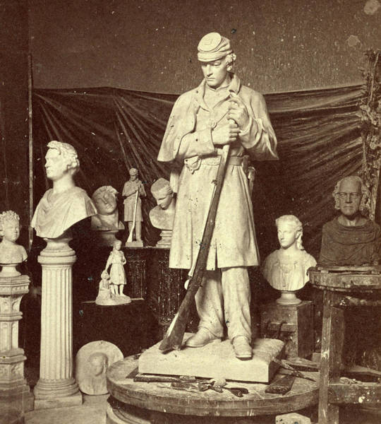 Roxbury Photograph - Maquette Of Union Soldier For Roxbury Soldiers Monument by Litz Collection