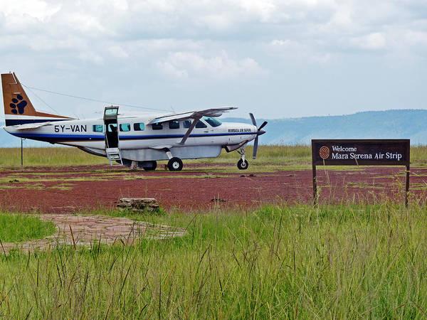 Photograph - Mara Serena Air Strip by Tony Murtagh