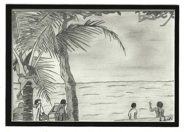 Trinidad Drawing - Maracas Bay by Chizzy Denzy