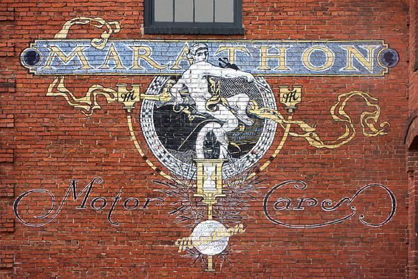 Wall Art - Photograph - Marathon Motor Cars Sign by Mike McGlothlen