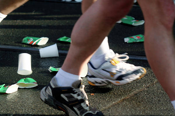 Trainer Photograph - Marathon Running by Chris Martin-bahr/science Photo Library