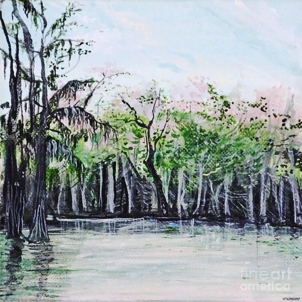 Painting - Maraupas Swamp St Johns Parish Louisiana by Lizi Beard-Ward