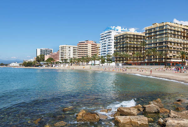 Marbella Photograph - Marbella, Costa Del Sol, Spain. Playa by Ken Welsh