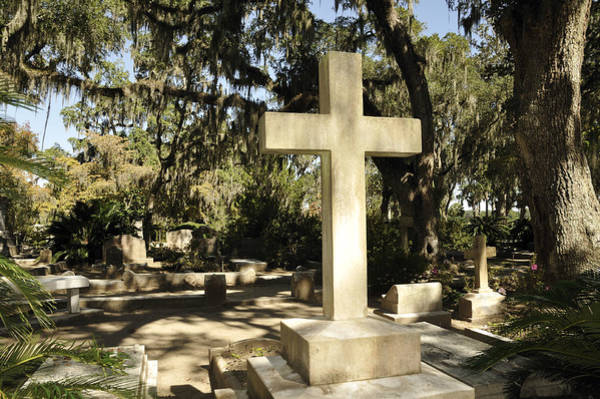 Photograph - Marble Crosses In Grave Yard by Bradford Martin