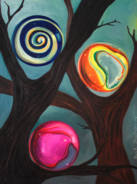 Painting - Marble Forest 2 Edit 4 by Leah Saulnier The Painting Maniac