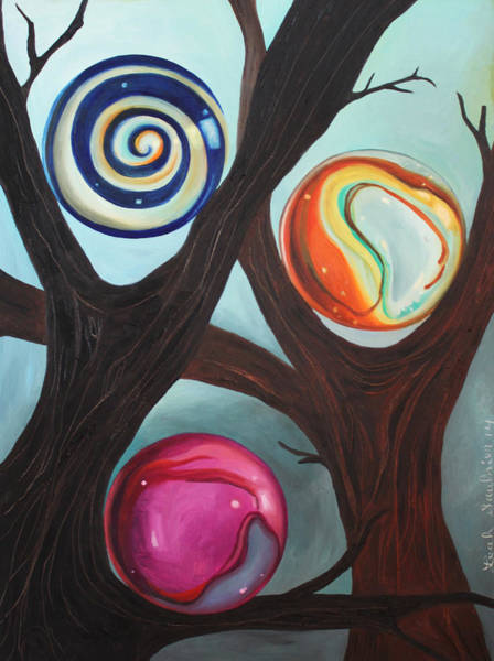 Wall Art - Painting - Marble Forest 2 by Leah Saulnier The Painting Maniac