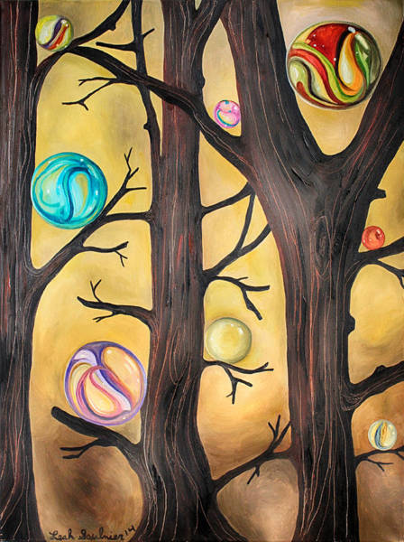 Painting - Marble Forest Edit 2 by Leah Saulnier The Painting Maniac