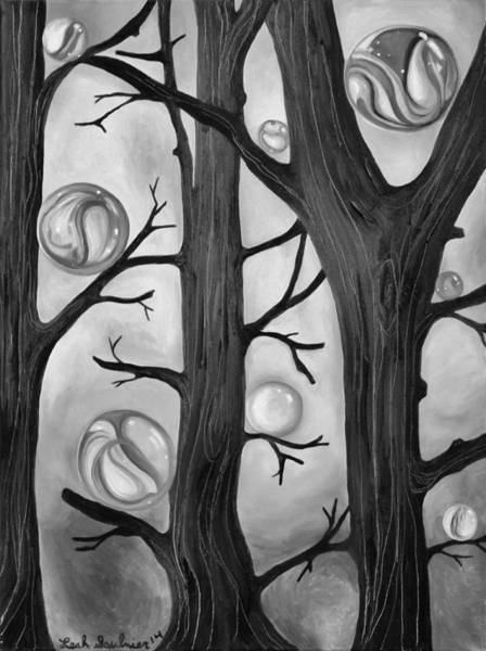 Painting - Marble Forest Edit 3 by Leah Saulnier The Painting Maniac