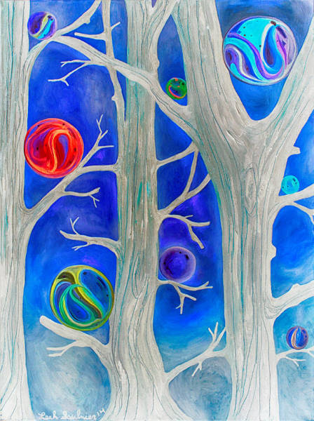 Painting - Marble Forest Edit 5 by Leah Saulnier The Painting Maniac
