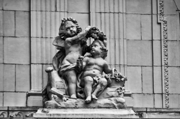 Photograph - Marble House Cherubs - Neport Rhode Island by Bill Cannon