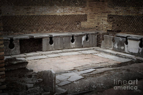 Photograph - Marble Public Toilets by Prints of Italy