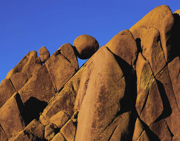 Marble Rock Formation Closeup Art Print
