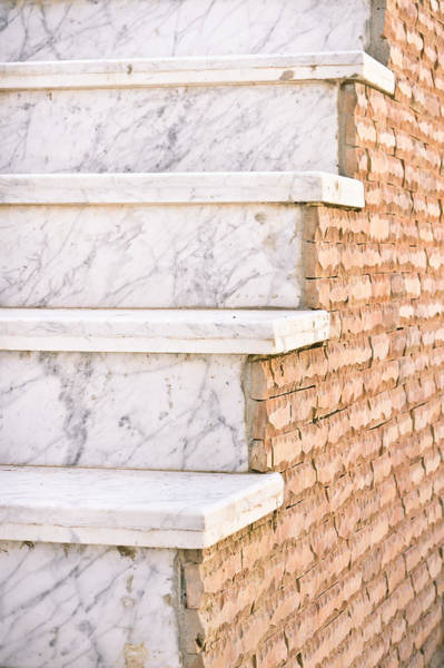 Cement Photograph - Marble Steps by Tom Gowanlock