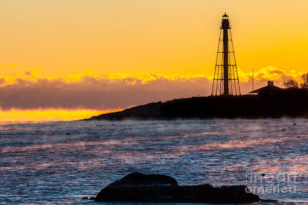 Photograph - Marblehead Light And Sea Smoke by Susan Cole Kelly