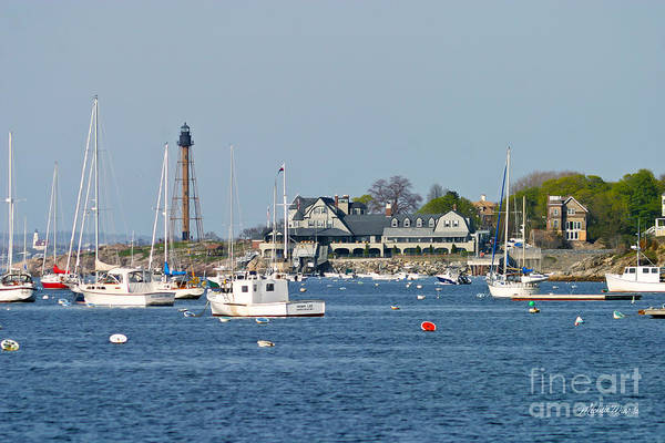 Marblehead Light And Yacht Club Art Print
