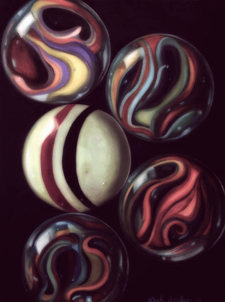 Wall Art - Painting - Marbles Edit 5 by Leah Saulnier The Painting Maniac