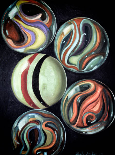 Wall Art - Painting - Marbles Edit 6 by Leah Saulnier The Painting Maniac