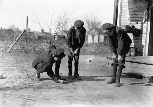 Photograph - Marbles Game, 1908 by Granger