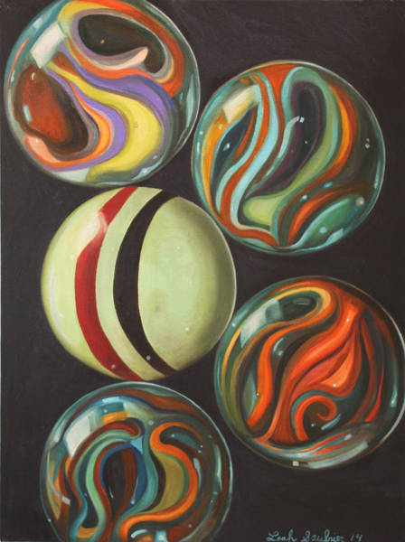 Painting - Marbles by Leah Saulnier The Painting Maniac