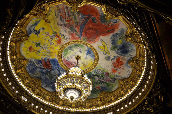 Photograph - Marc Chagal Ceilling In The Paris Opera House by RicardMN Photography
