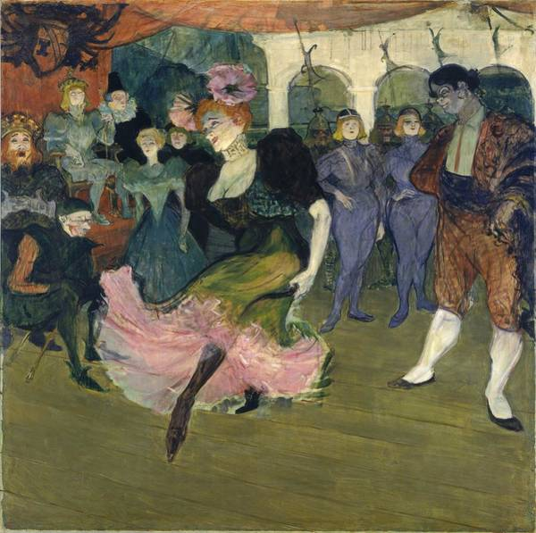 Crt Painting - Marcelle Lender Dancing The Bolero In Chilperic by Henri de Toulouse-Lautrec