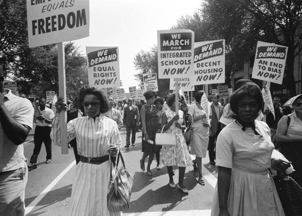 Equal Rights Wall Art - Photograph - March On Washington by Warren K Leffler