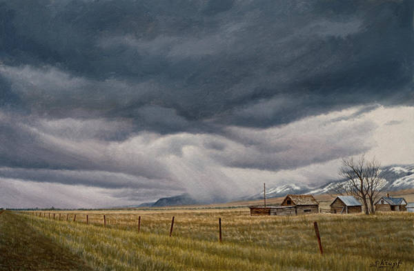Wall Art - Painting - March Sky-montana by Paul Krapf