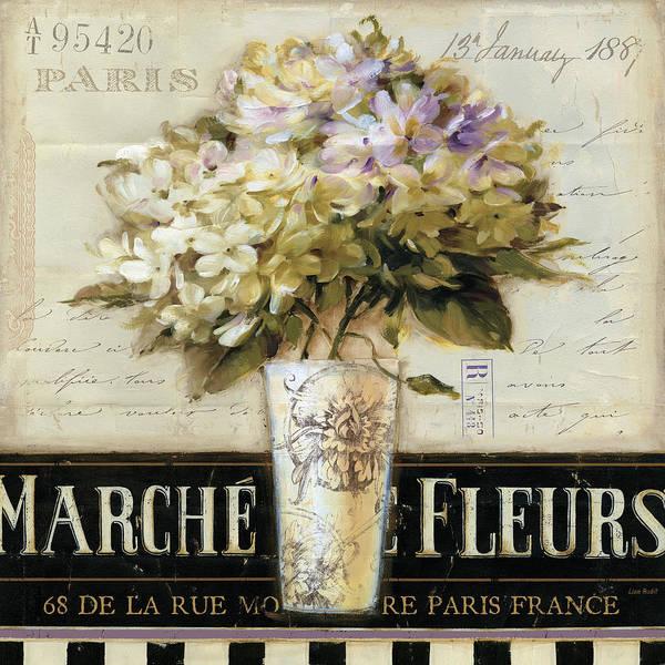 Fleurs Wall Art - Painting - Marche De Fleurs by Lisa Audit