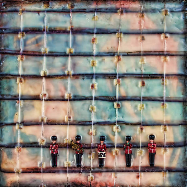 Mixed Media - Marching Band Encaustic by Bellesouth Studio