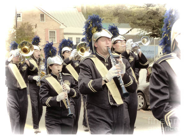 Photograph - Marching Band - Shepherd University Ram Band At Homecoming 2012 by Julia Springer