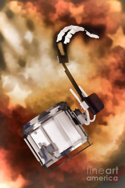 Painting - Marching Band Snare Drum Painting In Color 3330.02 by M K Miller