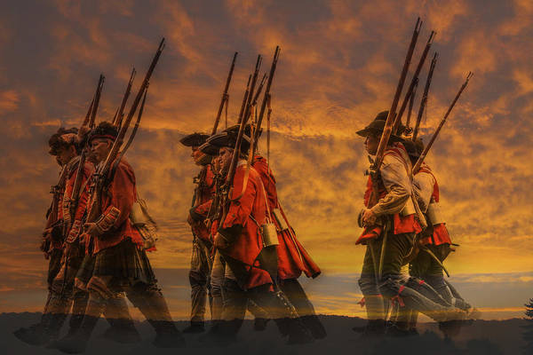 Marching Digital Art - Marching Into History by Randy Steele