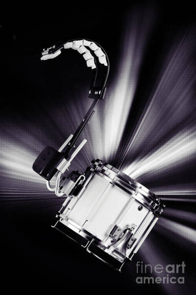 Photograph - Marching Snare Drum Music Photograph In Sepia 3327.01 by M K Miller