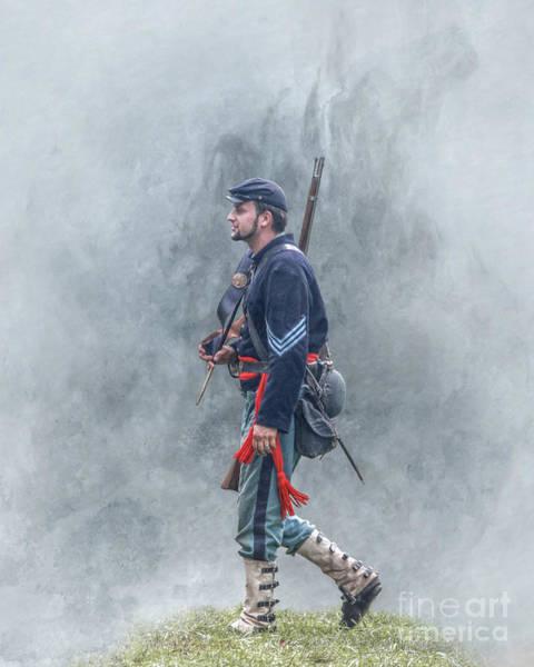 Marching Union Soldier Civil War Art Print
