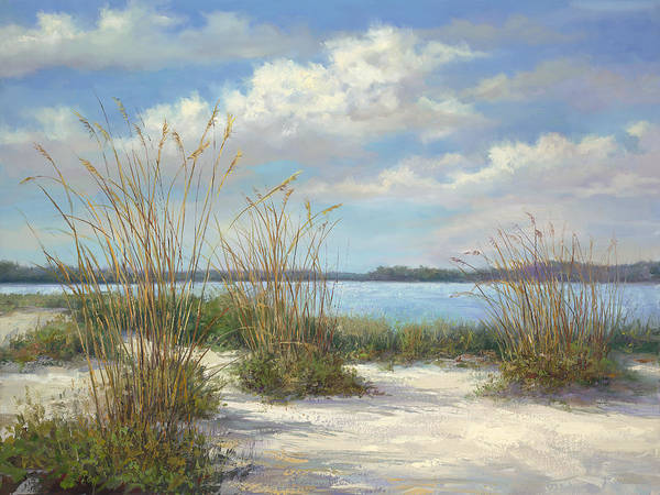 Sea Oats Painting - Marco Island by Laurie Snow Hein